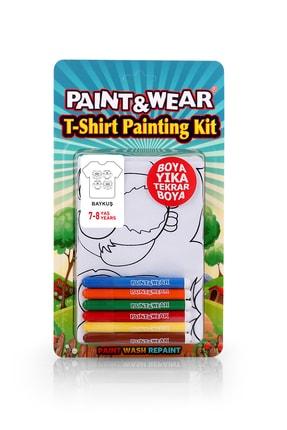 paint-wear Baykuş Boyama T-shirt 7-8 Yaş