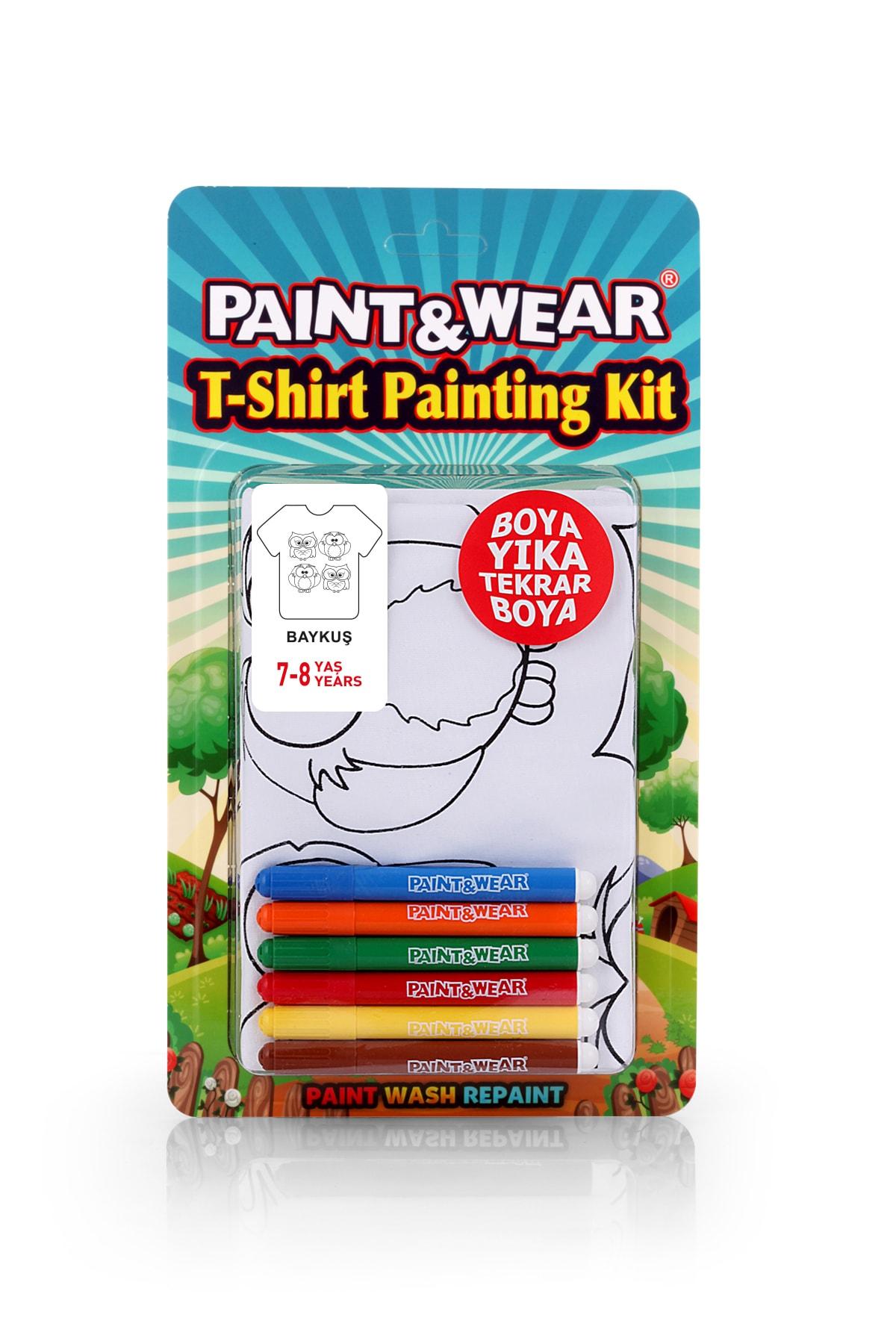 paint-wear Baykuş Boyama T-shirt 7-8 Yaş 1