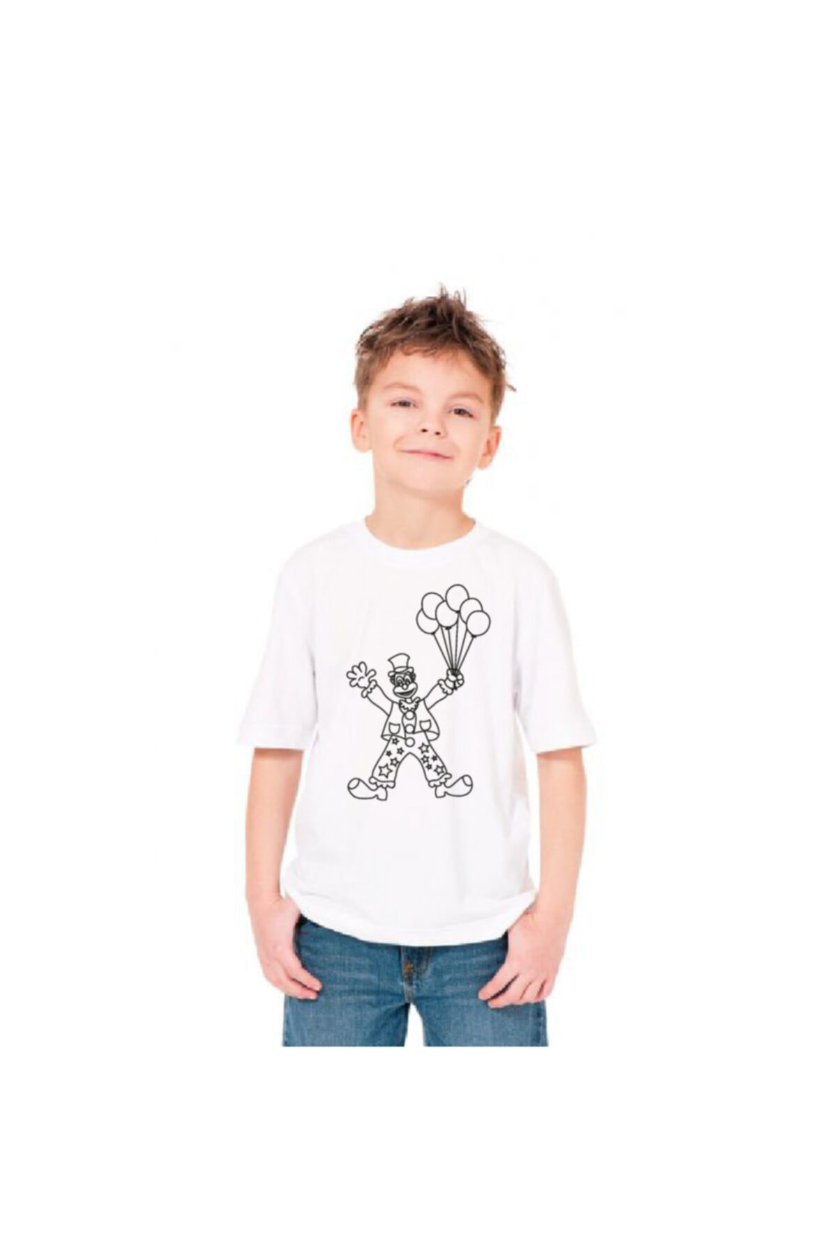 paint-wear Palyaço Boyama T-shirt 4-6 Yaş 2