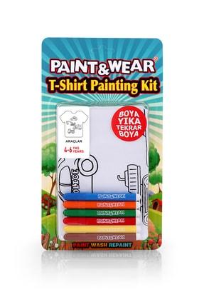 paint-wear Araçlar Boyama T-shirt 4-6 Yaş