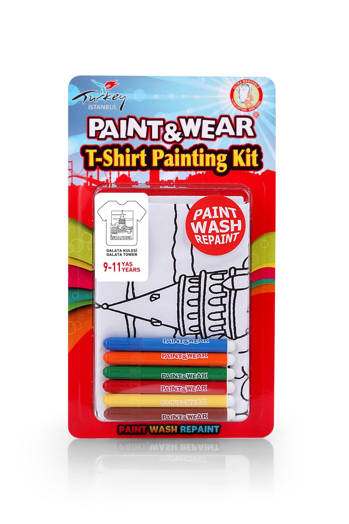 paint-wear Galata Kulesi Boyama T-shirt 9-11 Yaş 1