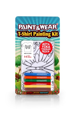 paint-wear Kelebek Boyama T-shirt 4-6 Yaş