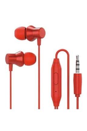 LENOVO Hf130 Kulaklık Kablolu Kulakiçi Kırmızı