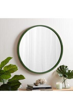 bluecape Doğal Ağaç Masif 50cm Yeşil Çerçeveli Antre Koridor Duvar Salon Banyo Ofis Çocuk Yatak Odası Ayna