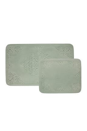 Karaca Home Damila Tiffany 2 Parça Banyo Paspası (60x100 cm + 50x60 cm)