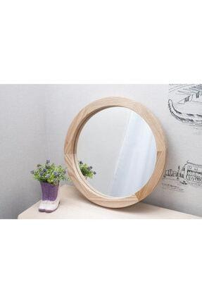 bluecape Doğal Ağaç Masif 30cm Çerçeveli Antre Koridor Duvar Salon Mutfak Banyo Ofis Çocuk Yatak Odası Ayna