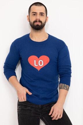 BlueUmman Erkek Mavi Triko Bluz