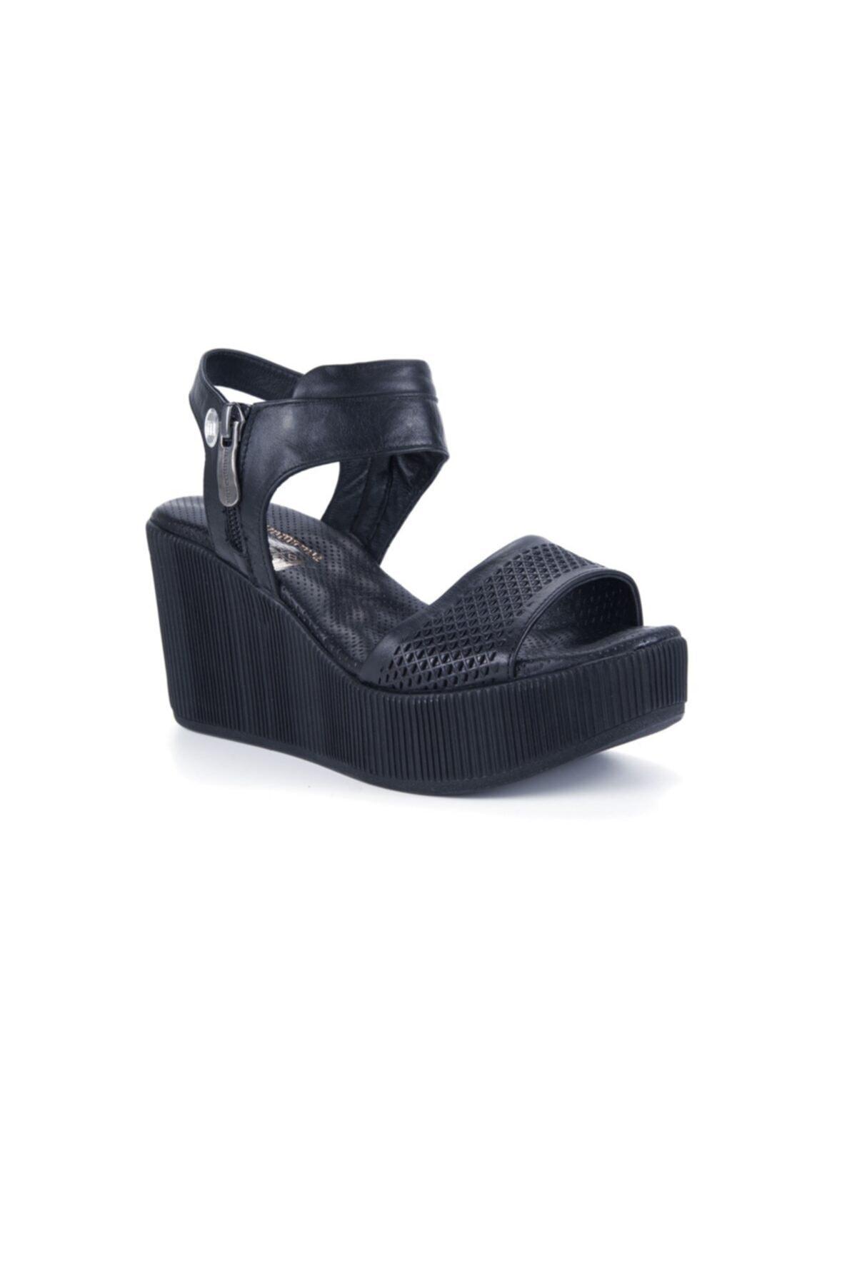 Mammamia Kadın Siyah Sandalet 2