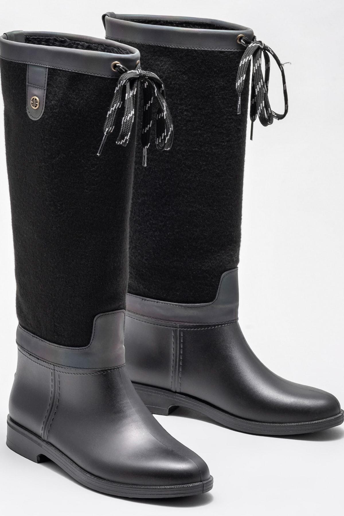 Elle Shoes ESTUARDO Kadın Siyah Çizme 1