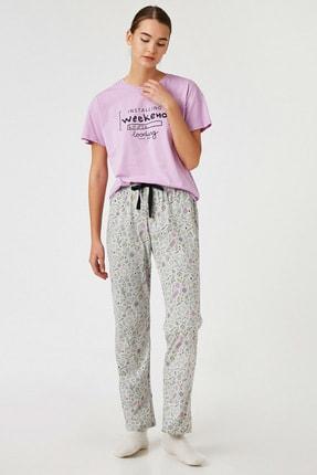 Koton Kadın Lila Pijama Takımı 1KLK79328MK
