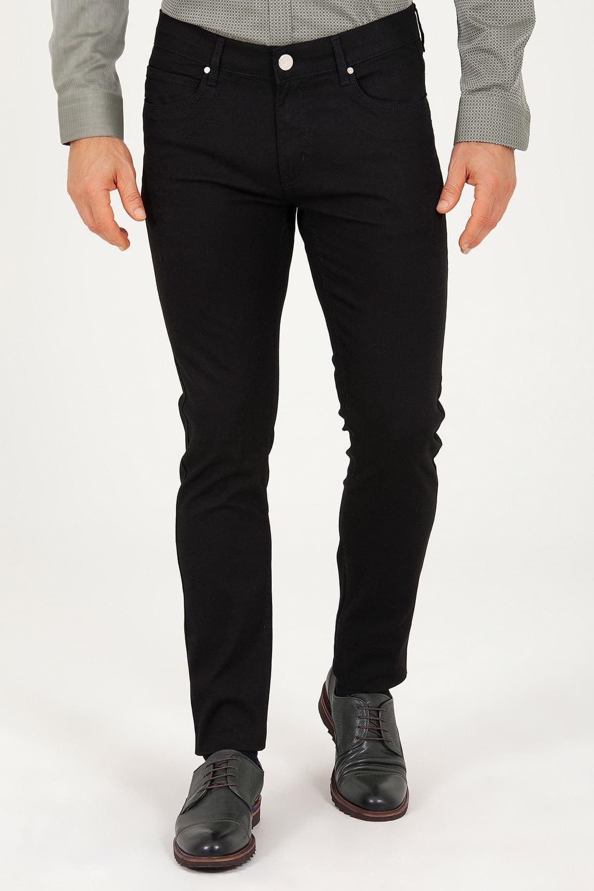 Hatemoğlu Siyah Slim Fit Jean Pantolon 1