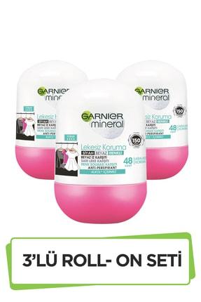 Garnier Mineral Lekesiz Koruma Ferah Koku Sprey Roll-on Deodorant 3'lü Set 36005419289543