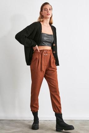 TRENDYOLMİLLA Kahverengi Kemerli Pantolon TWOAW21PL0674