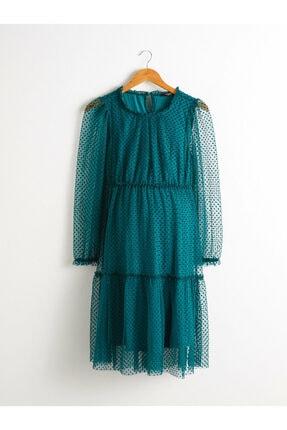 LC Waikiki Kadın Koyu Yeşil Elbise