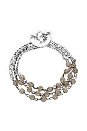 Elle Shoes Kadın Üç Sıra Taşlı Gümüş Bileklik
