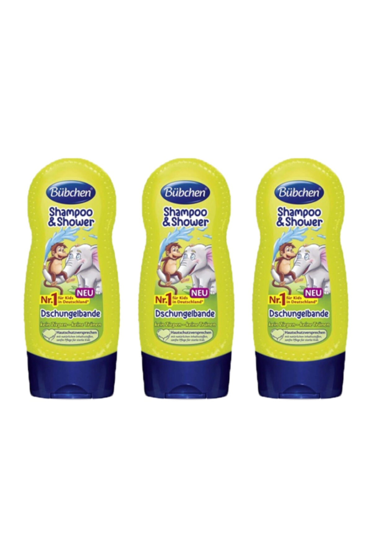 Bübchen Tropik Orman Çocuk Şampuanı Ve Duş Jeli 230 ml X 3 Adet 1