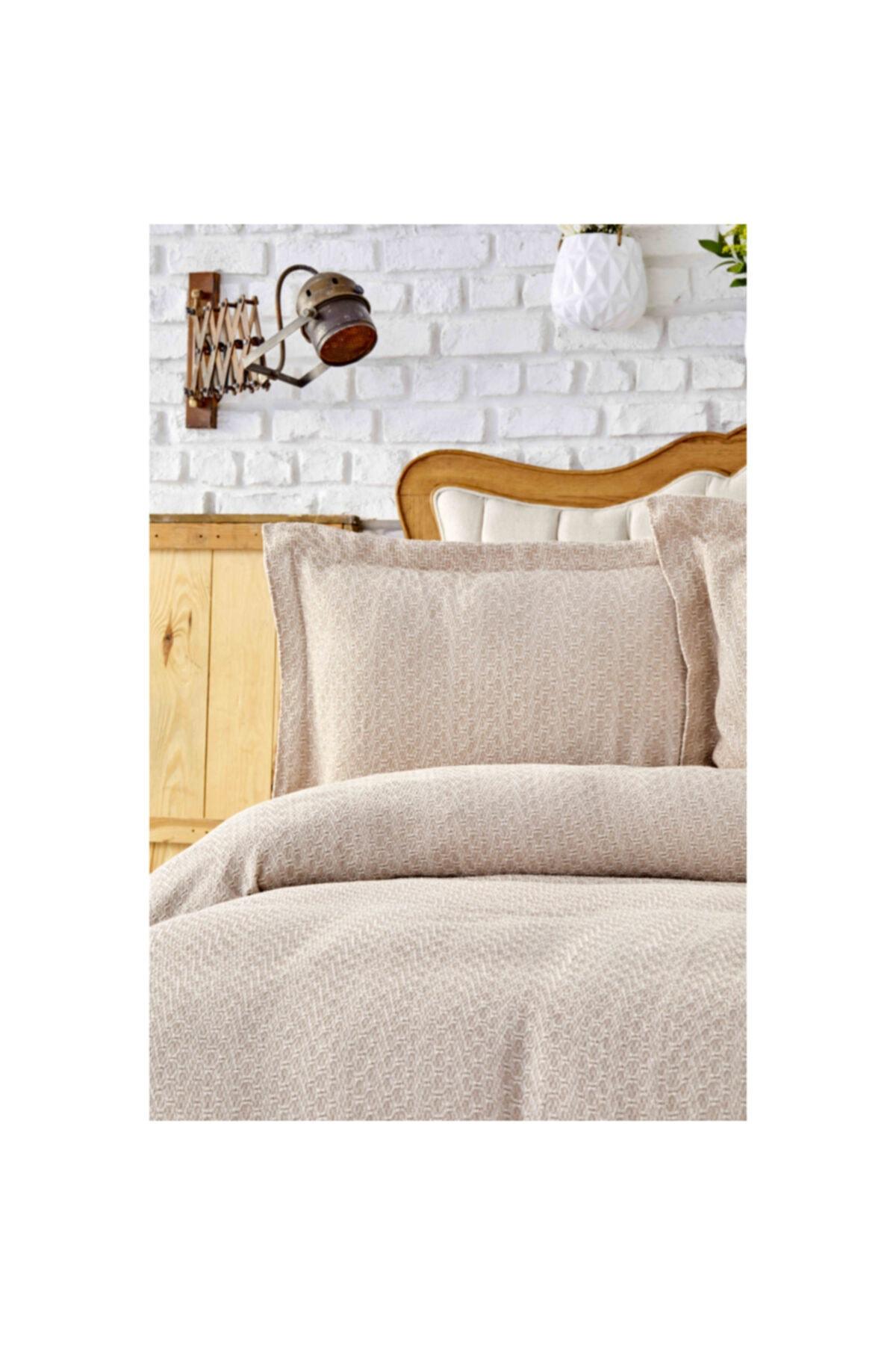 Karaca Home Stella Bej Çift Kişilik Yatak Örtüsü Seti 1