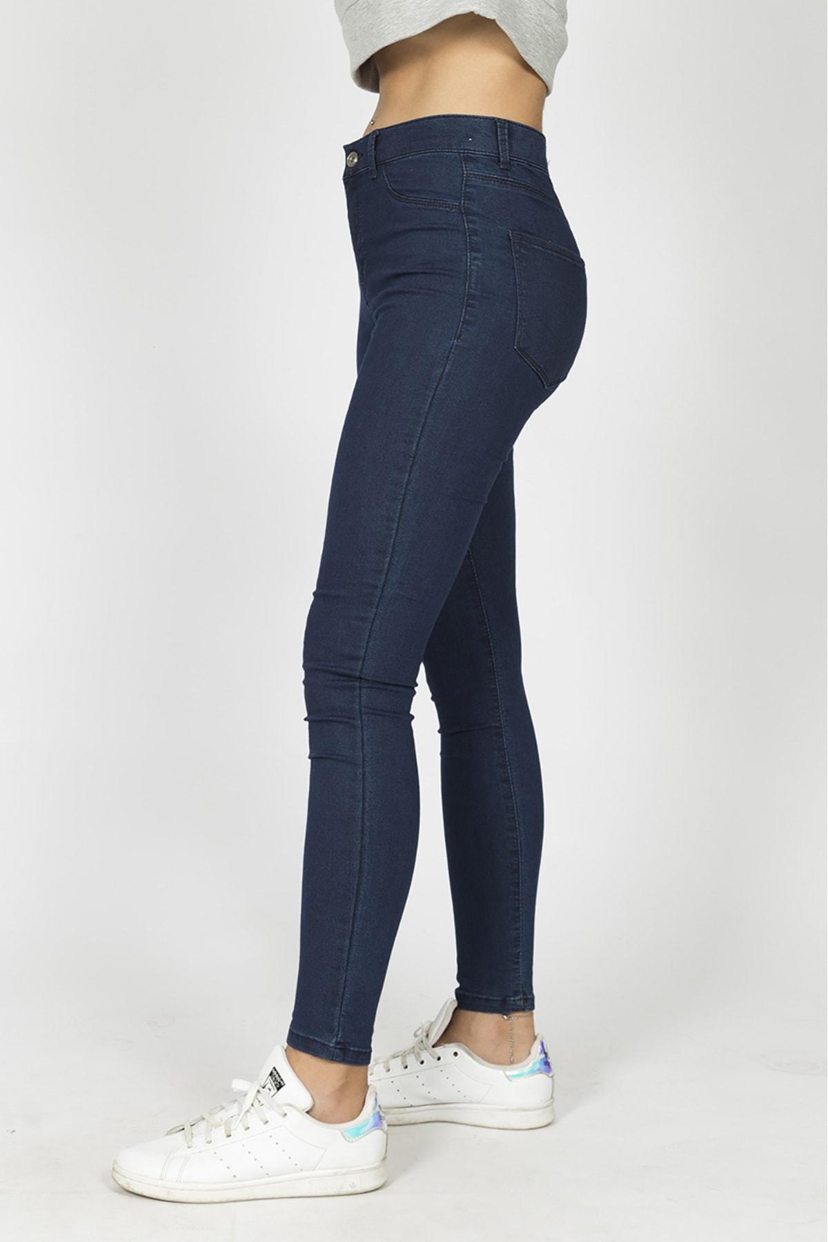 Berm Collection Kadın Lacivert Jeans Kot Pantolon 2