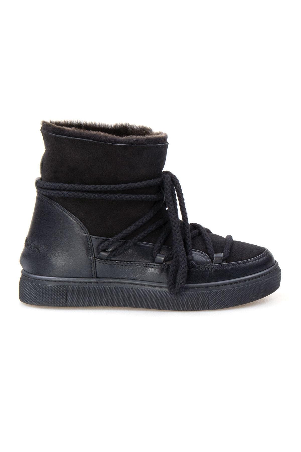 Cool Moon Kadın Siyah Kürklü Sneaker 355050 1