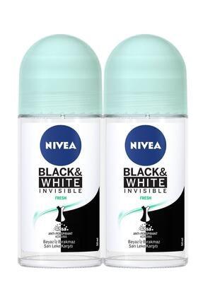 Nivea Invisible Black & White Pure Kadın Deodorant Roll-on 50 Ml 2'li