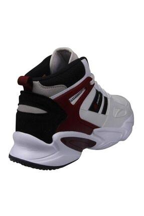 MP Unısex Beyaz Kırmızı Bilek Boy Basketbol Ayakkabı