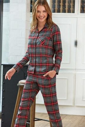 Pierre Cardin  Pijama Kadın Ekose Pijama Takımı