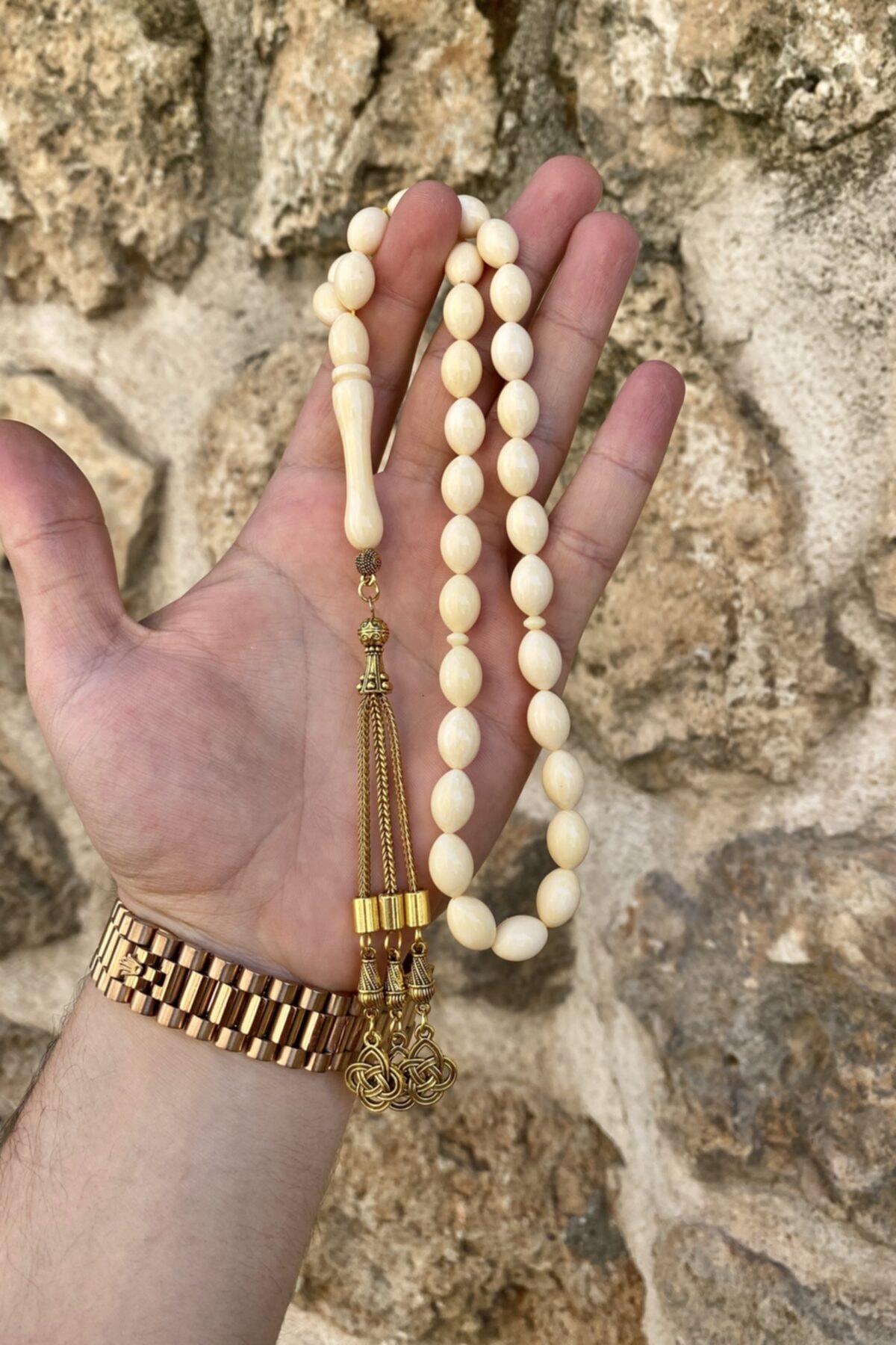 MÜNTAKIŞ Aşk Düğüm Püsküllü Beyrut Damla Kehribar Tesbih 2