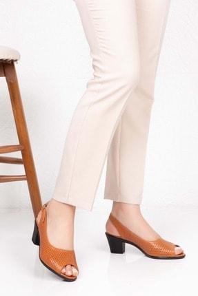 Gondol Kadın Kahverengi  Deri Topuklu Ayakkabı