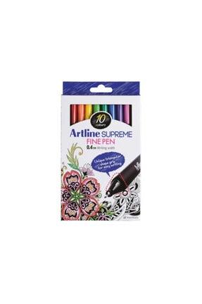 artline Fine Pen Supreme 0.4 Mm 10 Lu Epfs-200/10w