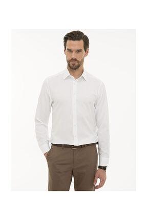 Pierre Cardin Erkek Beyaz Slim Fit Oxford Gömlek