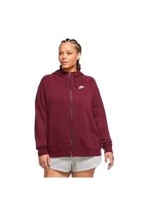 Nike Cj0401-638 Sportswear Essential Büyük Beden Kapüşonlu Üst
