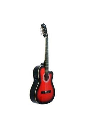 Rodriguez Gitar Elektro Klasik Kesik Kasa Eq Kırmızı Rcce650rb