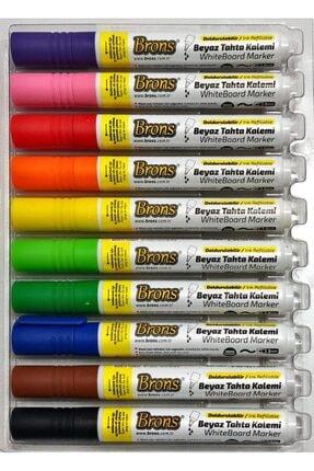 Brons Whiteboard Marker Doldurulabilir Beyaz Tahta Kalemi Seti 10 Renk
