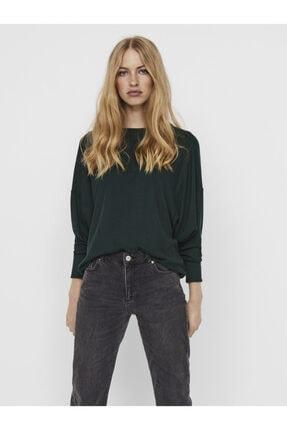 Vero Moda Kadın Yeşil Uzun Kollu Üst Örme Kazak 10237425 Vmbella