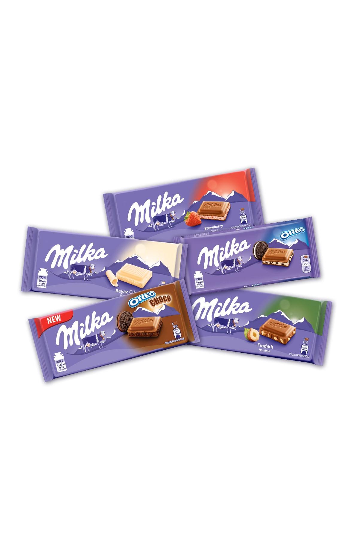 Milka Mılka Lezzet Paketi (5 Adet Tablet Çikolata) 2