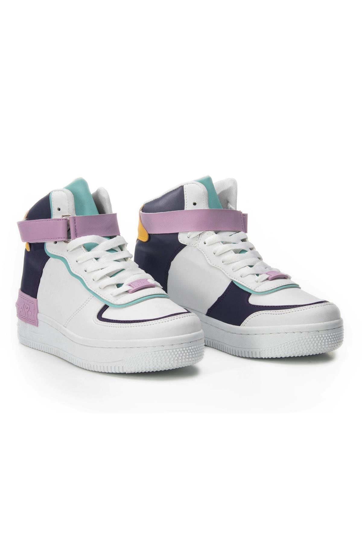 LETOON Kadın Mor Beyaz Günlük Ayakkabı Mrk21 1