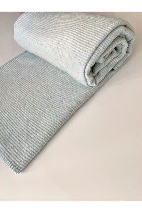 Taşan Tekstil Çift Kişilik Düz Desen Skoç Battaniye