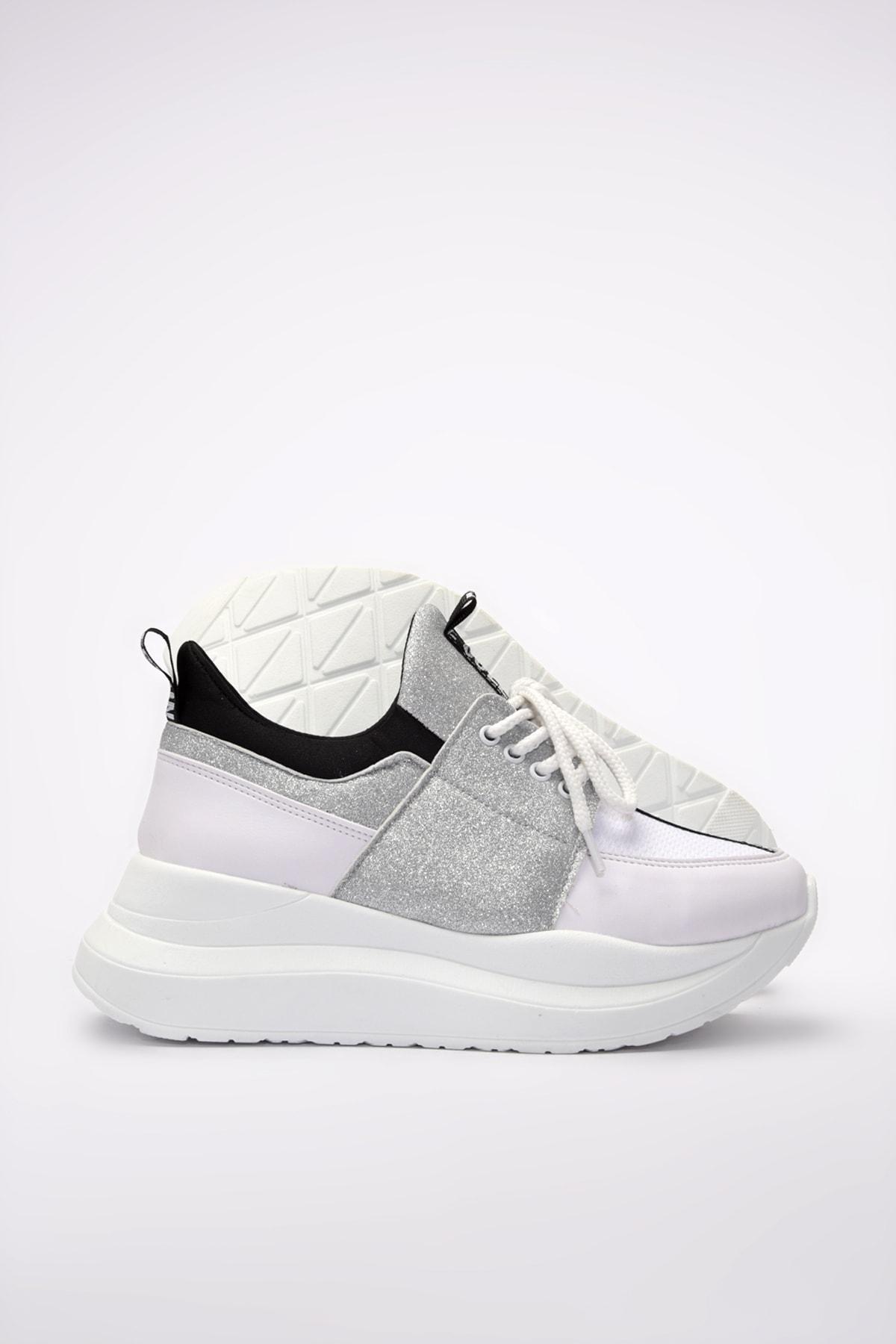 Yaya  by Hotiç Beyaz Kadın Sneaker 01AYY201180A900 1