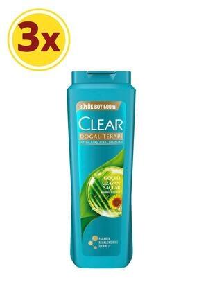 Clear Güçlü Uzayan Saçlar Kadın Şampuan 600 Ml X3