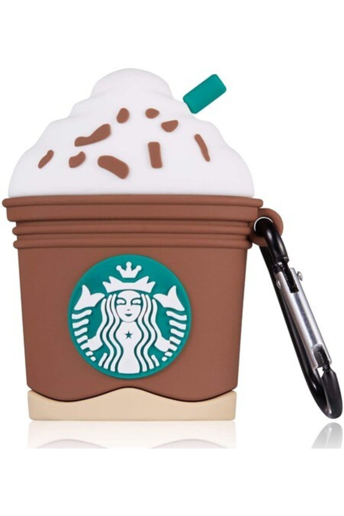 MY MÜRDÜM Sevimli Starbucks Kahverengi Airpods Kılıfı 1. Ve 2. Nesil Uyumlu 1