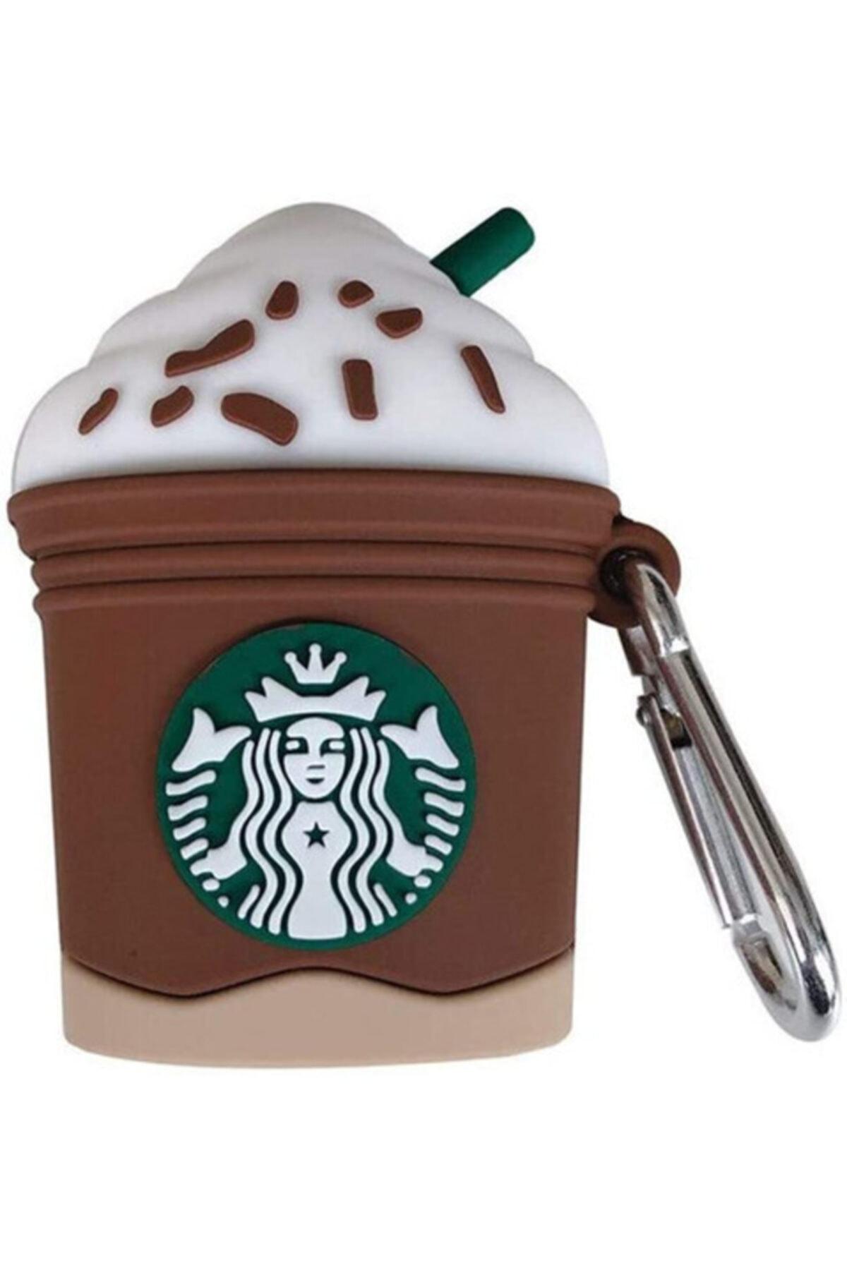 MY MÜRDÜM Sevimli Starbucks Kahverengi Airpods Kılıfı 1. Ve 2. Nesil Uyumlu 2