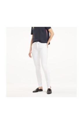 Tommy Hilfiger Kadın Beyaz Jeans Como Skınny Rw A Clr WW0WW24490