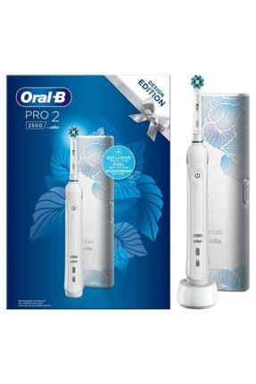 Oral-B Pro 2500 Şarj Edilebilir Diş Fırçası Cross Action Flora Blue+seyahat Kabı