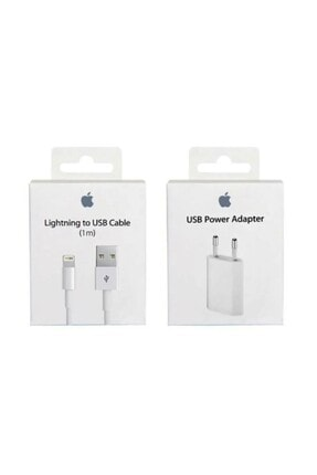 Apple Iphone Orijinal Şarj Aleti Cihazı + Usb Kablosu Orjinal Lightning