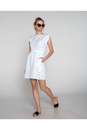 Tommy Hilfiger Kadın Beyaz Maıa Dress Ss Elbise