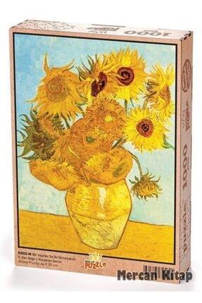 King Of Puzzle Bir Vazoda On Iki Günebakan - Vincent Van Gogh Ahşap Puzzle 1000 Parça (kr03-m)