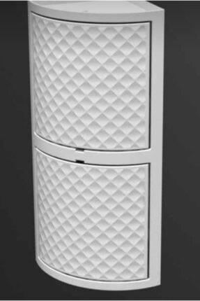 Wedo Banyo 360 Derece Dönen Üçgen Raf Mutfak Tuvalet Raf Köşe Raf Banyo Depolama Raflı Dolap