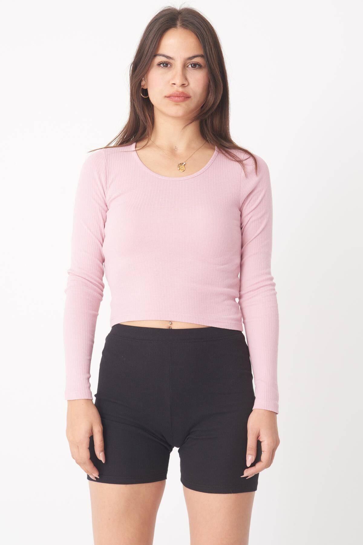 Addax Kadın Pale Uzun Kollu Bluz B1069 - W12 Adx-0000023026 1