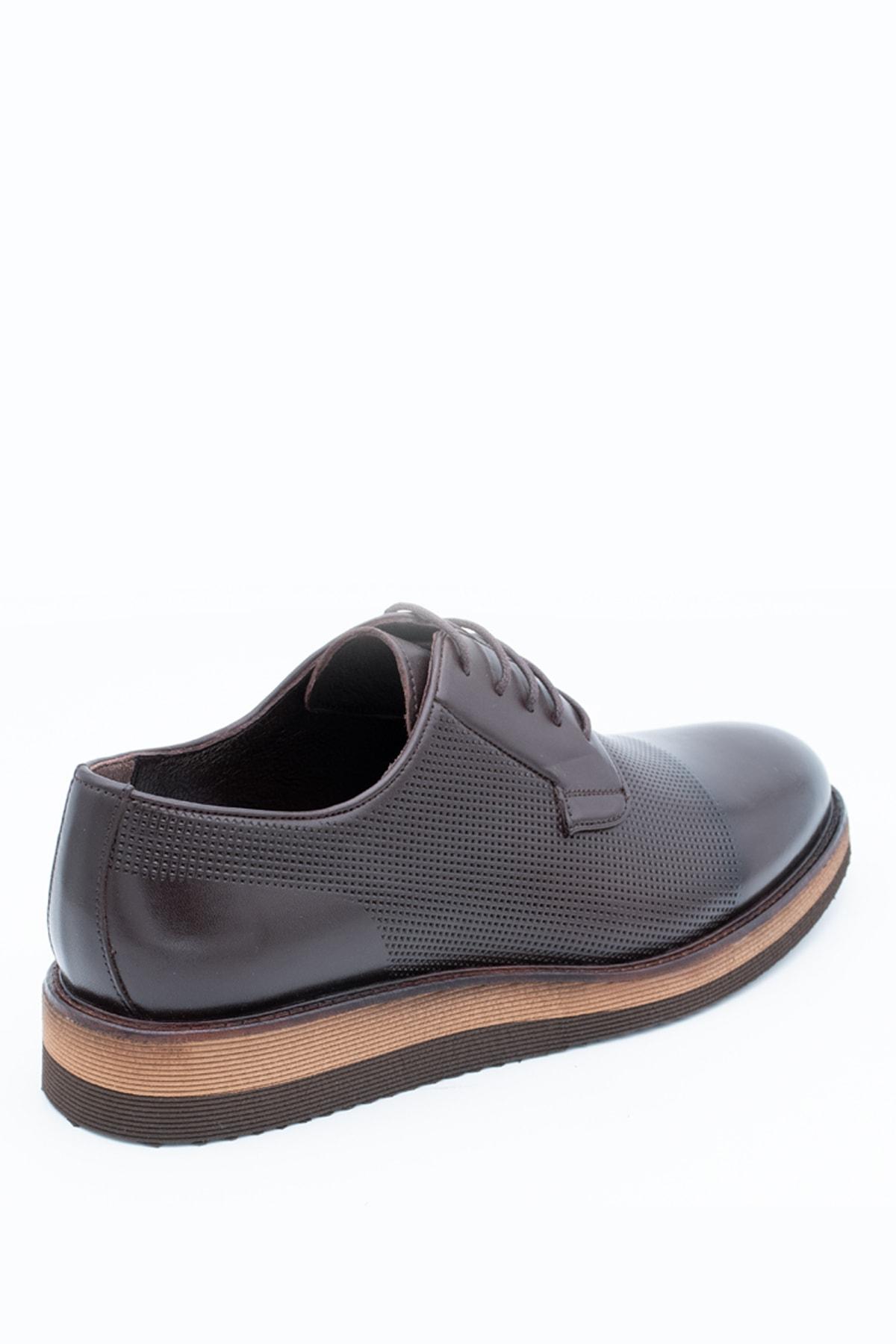 İgs Erkek Kahverengi Deri Günlük Ayakkabı 2