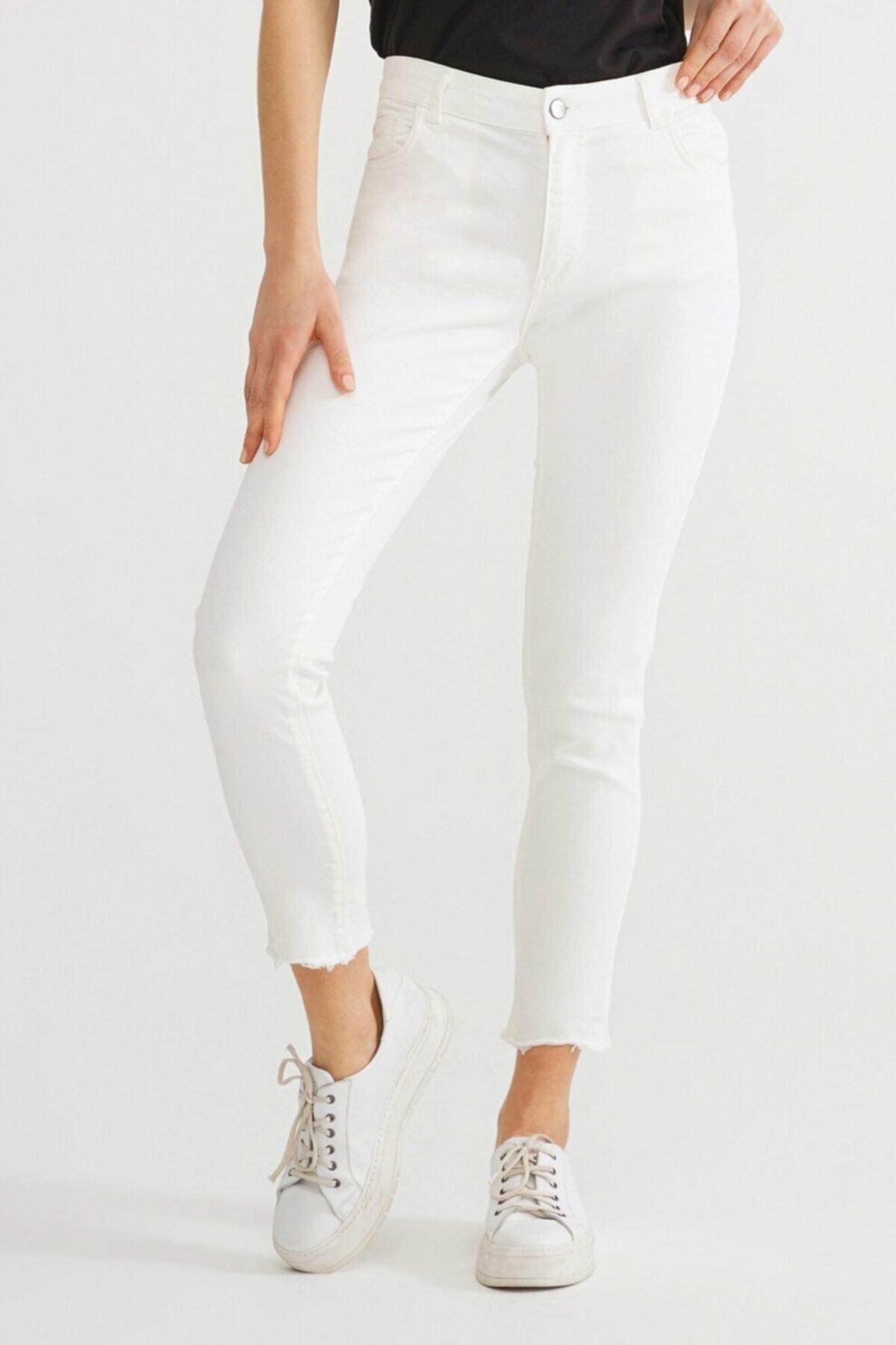 adL Kadın Kemik Paça Detaylı Pantolon 15336759001019 2